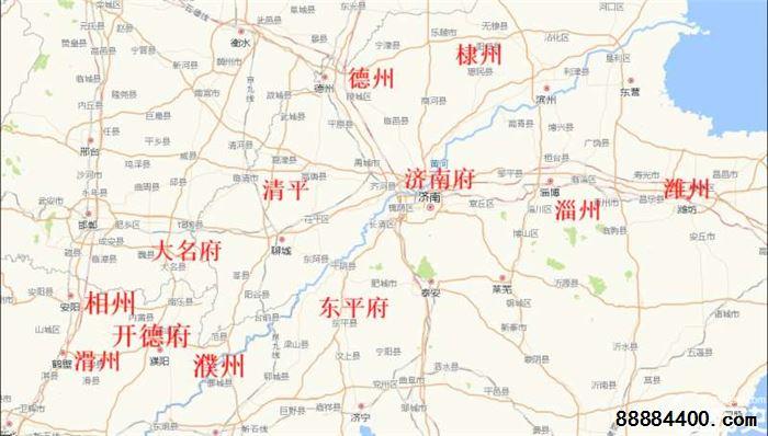 淄川城区街道地图